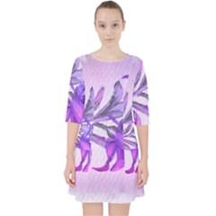 Flowers Flower Purple Flower Pocket Dress