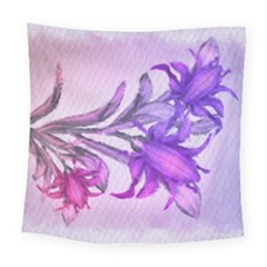 Flowers Flower Purple Flower Square Tapestry (large)