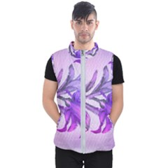 Flowers Flower Purple Flower Men s Puffer Vest