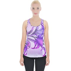 Flowers Flower Purple Flower Piece Up Tank Top