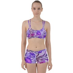 Flowers Flower Purple Flower Women s Sports Set