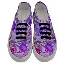Flowers Flower Purple Flower Men s Classic Low Top Sneakers