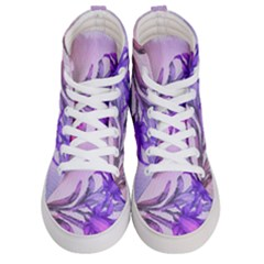 Flowers Flower Purple Flower Men s Hi Top Skate Sneakers