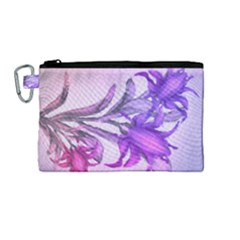 Flowers Flower Purple Flower Canvas Cosmetic Bag (medium)