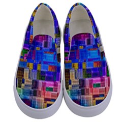 Background Art Abstract Watercolor Kids  Canvas Slip Ons