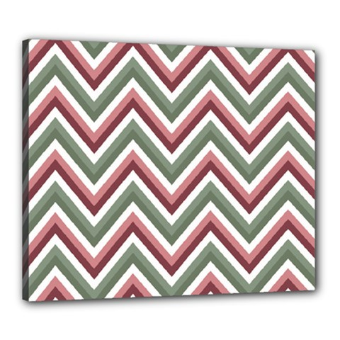 Chevron Blue Pink Canvas 24  X 20