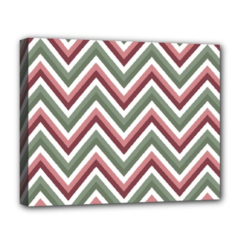 Chevron Blue Pink Deluxe Canvas 20  X 16