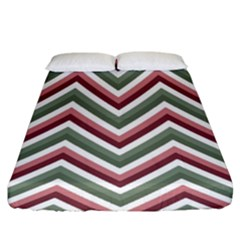 Chevron Blue Pink Fitted Sheet (king Size)