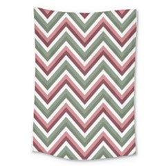 Chevron Blue Pink Large Tapestry