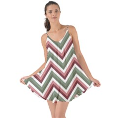 Chevron Blue Pink Love The Sun Cover Up