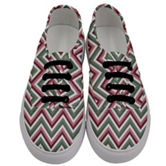 Chevron Blue Pink Men s Classic Low Top Sneakers