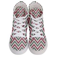 Chevron Blue Pink Men s Hi Top Skate Sneakers