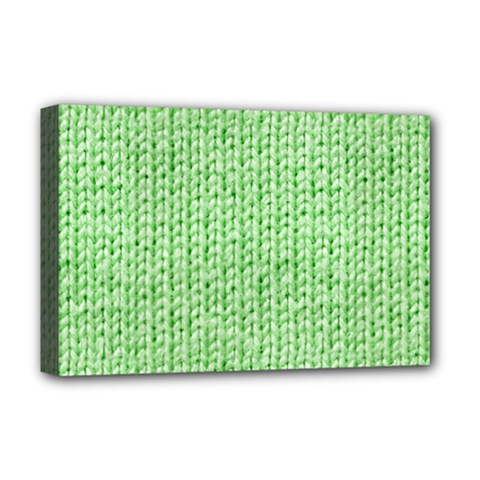 Knittedwoolcolour2 Deluxe Canvas 18  X 12