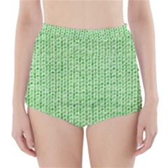 Knittedwoolcolour2 High Waisted Bikini Bottoms
