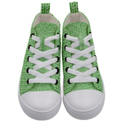 Knittedwoolcolour2 Kid s Mid Top Canvas Sneakers