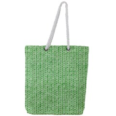 Knittedwoolcolour2 Full Print Rope Handle Tote (large)