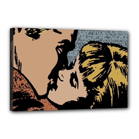 Kiss Kiss Canvas 18  X 12