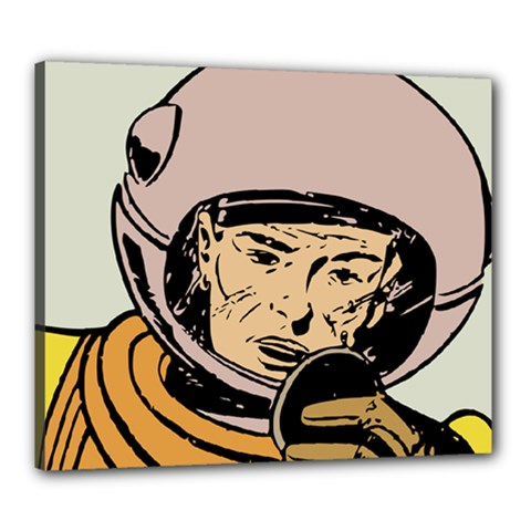 Astronaut Retro Canvas 24  X 20
