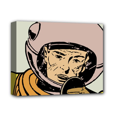 Astronaut Retro Deluxe Canvas 14  X 11