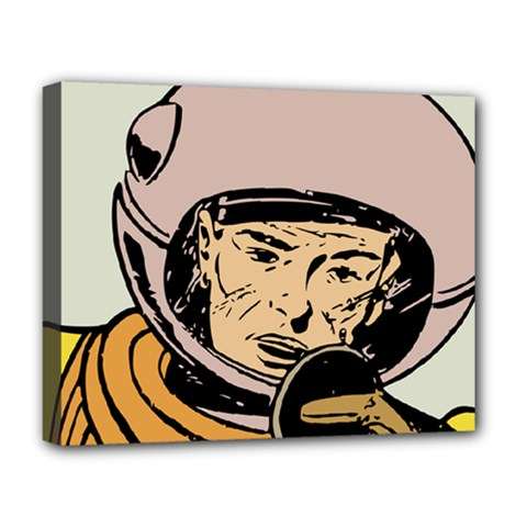 Astronaut Retro Deluxe Canvas 20  X 16