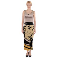 Astronaut Retro Fitted Maxi Dress