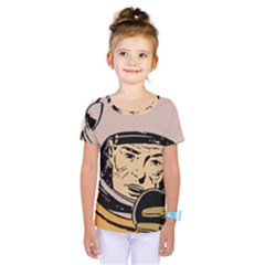 Astronaut Retro Kids  One Piece Tee