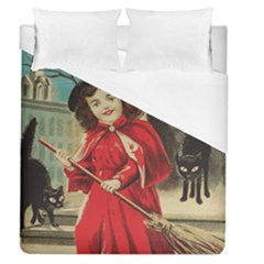 Haloweencard3 Duvet Cover (queen Size)