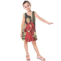 Haloweencard3 Kids  Sleeveless Dress