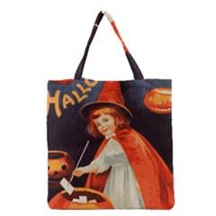 Haloweencard2 Grocery Tote Bag