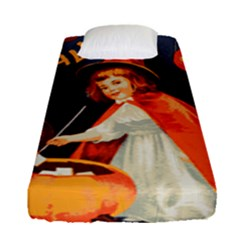 Haloweencard2 Fitted Sheet (single Size)