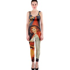 Haloweencard2 One Piece Catsuit