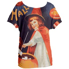 Haloweencard2 Women s Oversized Tee