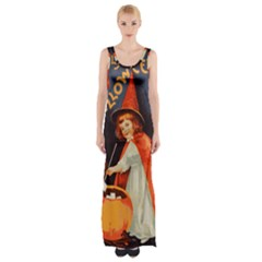Haloweencard2 Maxi Thigh Split Dress