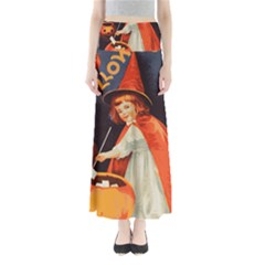 Haloweencard2 Full Length Maxi Skirt