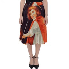 Haloweencard2 Folding Skater Skirt