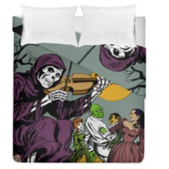 Playing Skeleton Duvet Cover Double Side (queen Size)