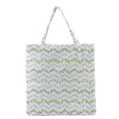 Wavy Linear Seamless Pattern Design  Grocery Tote Bag