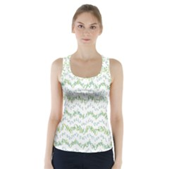 Wavy Linear Seamless Pattern Design  Racer Back Sports Top