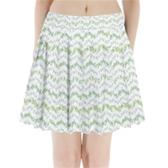 Wavy Linear Seamless Pattern Design  Pleated Mini Skirt