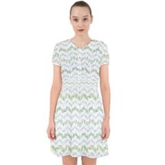 Wavy Linear Seamless Pattern Design  Adorable In Chiffon Dress