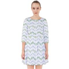 Wavy Linear Seamless Pattern Design  Smock Dress