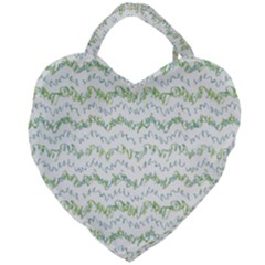 Wavy Linear Seamless Pattern Design  Giant Heart Shaped Tote