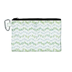 Wavy Linear Seamless Pattern Design  Canvas Cosmetic Bag (medium)