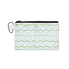 Wavy Linear Seamless Pattern Design  Canvas Cosmetic Bag (small)