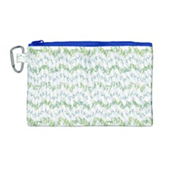 Wavy Linear Seamless Pattern Design  Canvas Cosmetic Bag (large)