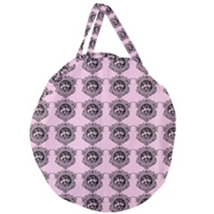 Three Women Pink Giant Round Zipper Tote