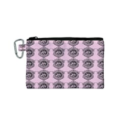 Three Women Pink Canvas Cosmetic Bag (small)