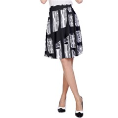 Numbers Cards 7898 A Line Skirt