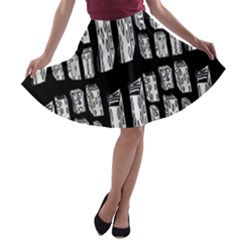 Numbers Cards 7898 A Line Skater Skirt