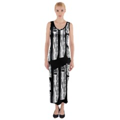 Numbers Cards 7898 Fitted Maxi Dress